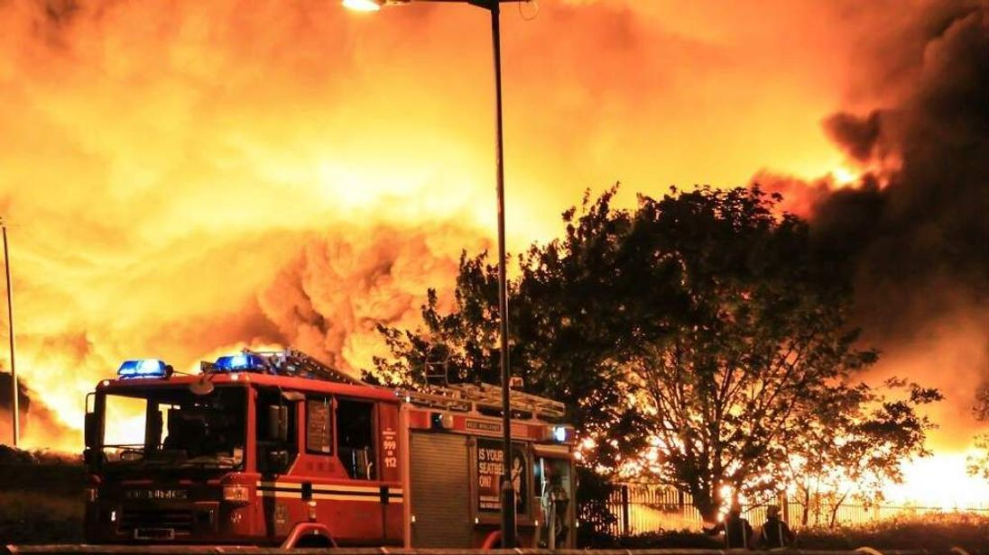 The Fire Service says it is the region's biggest fire