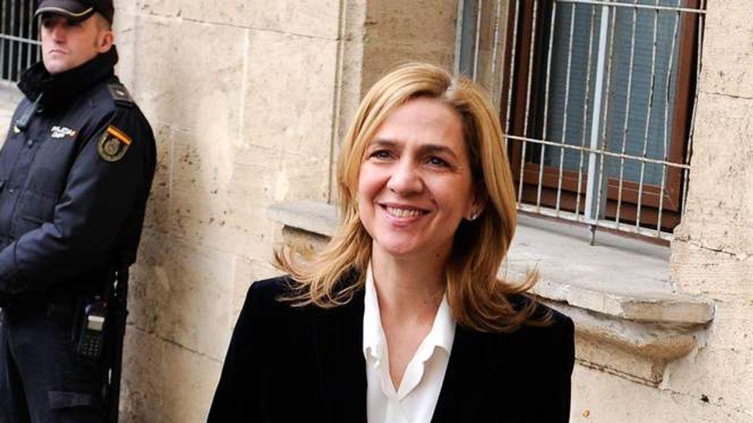 Hearing of Princess Cristina Of Spain in Noos Case in Palma de Mallorca