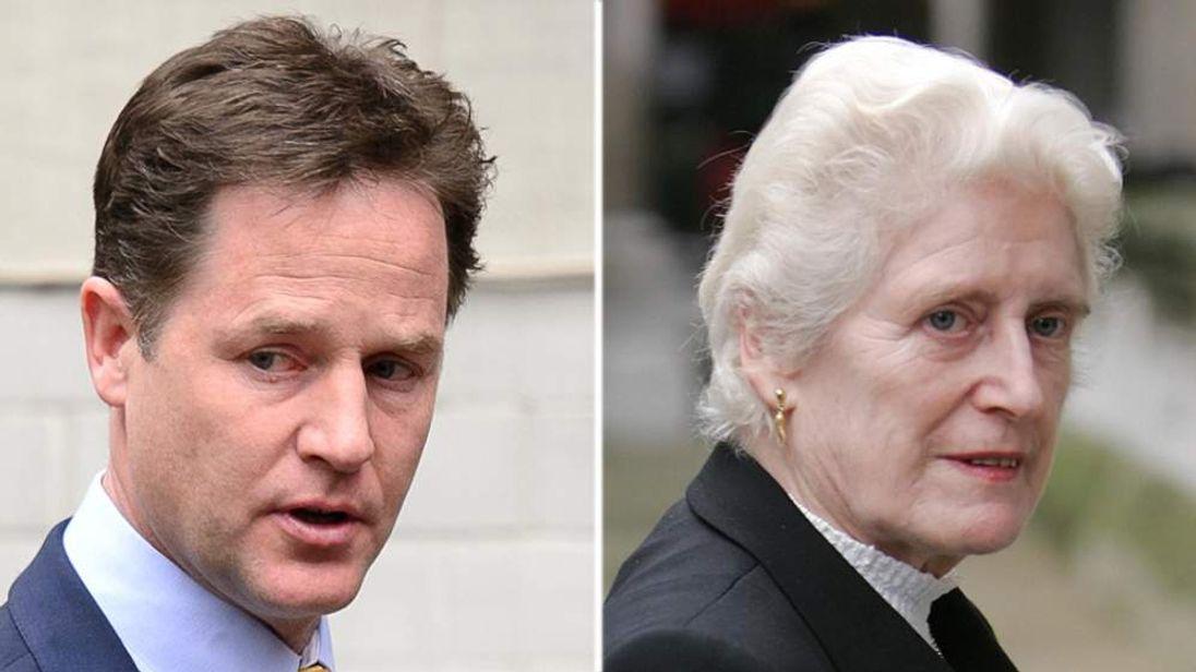 Nick Clegg and Baroness Butler-Sloss