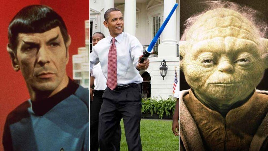 Dr Spock, Barack Obama and Yoda