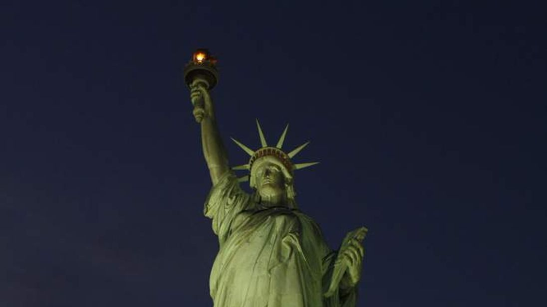 Statue of Liberty illuminated for first time since Sandy
