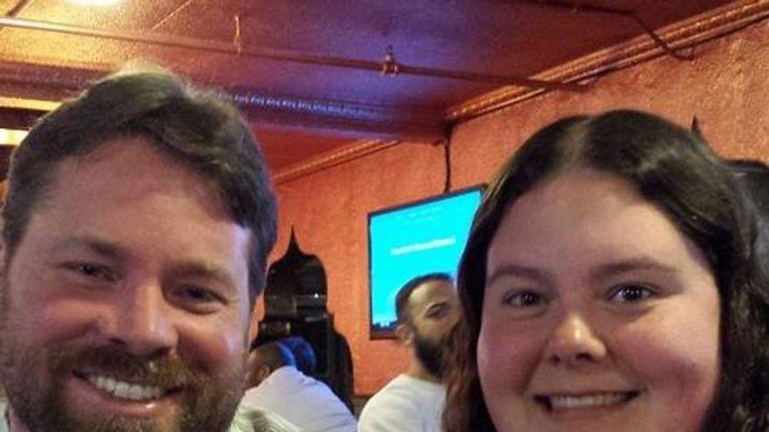 Stephen Howells (L) and Nicole Vaisey,