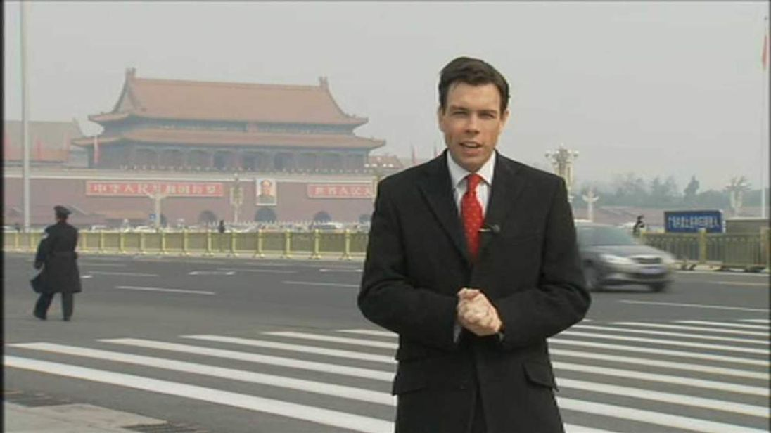 Mark Stone reporting from Tiananmen Square