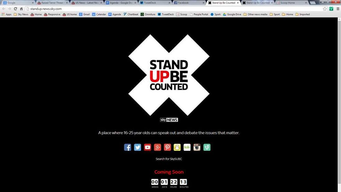 Stand Up Be Counted