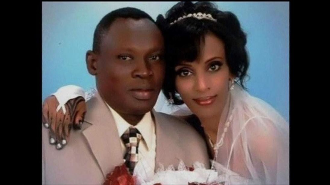 Daniel Wani and Mariam Yehya Ibrahim on their wedding day