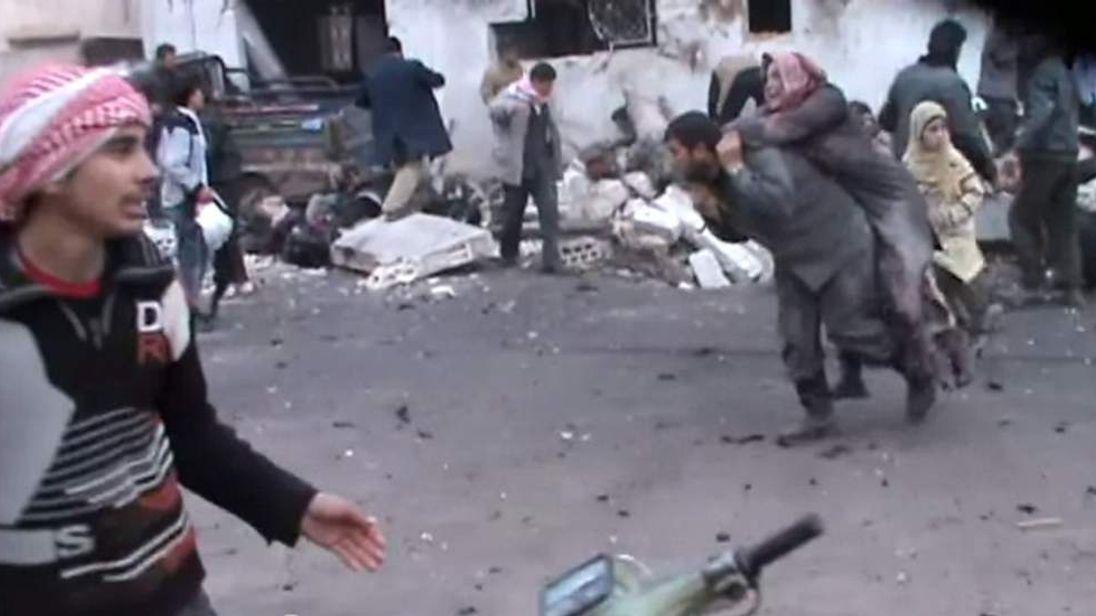 Airstrike on a bakery in Halfaya