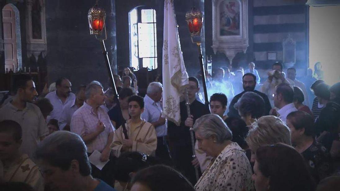 Syrian Christians worship