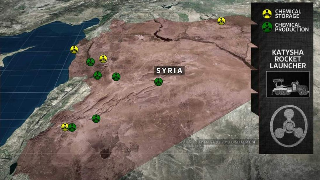 Map of Syrian chemical facilities