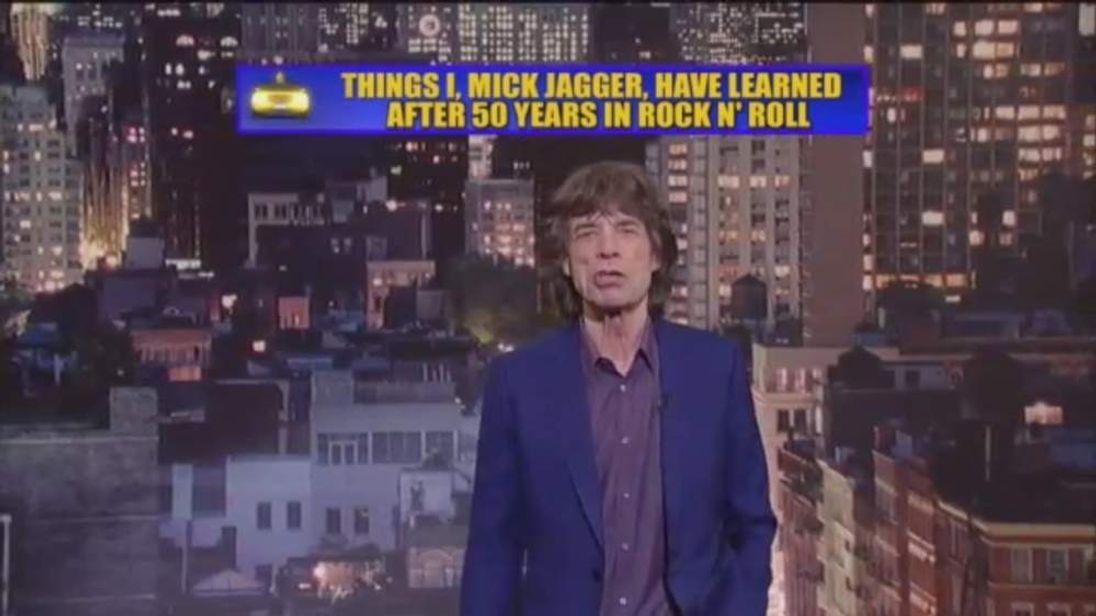 Mick Jagger on Letterman