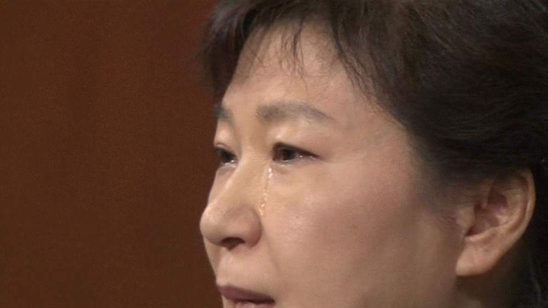South Korea President sheds tears