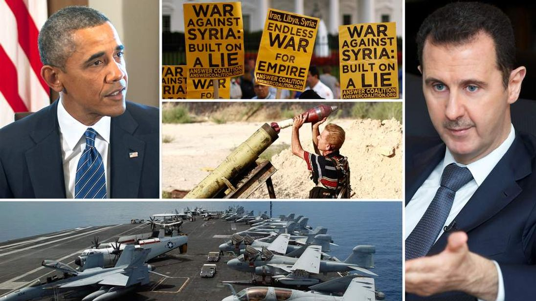 The US has a plan to help Syria's rebels bring down the Assad regime after launching military strikes, President Obama has said.