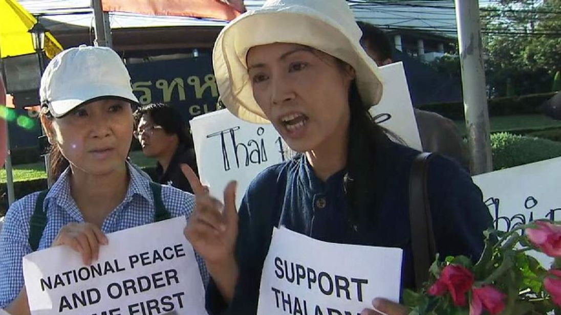 Supporters of Thailand military coup