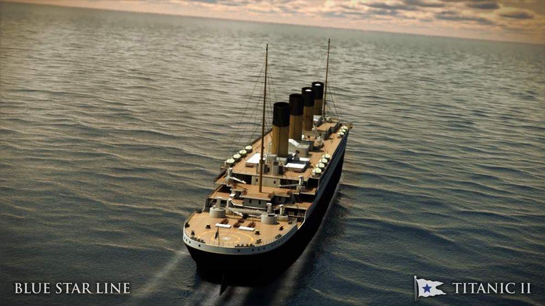 Artist rendering of Titanic II - Exterior B