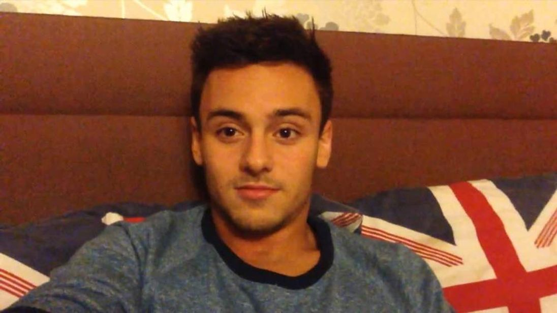A grab from the youtube video made by diver Tom Daley in which he came out