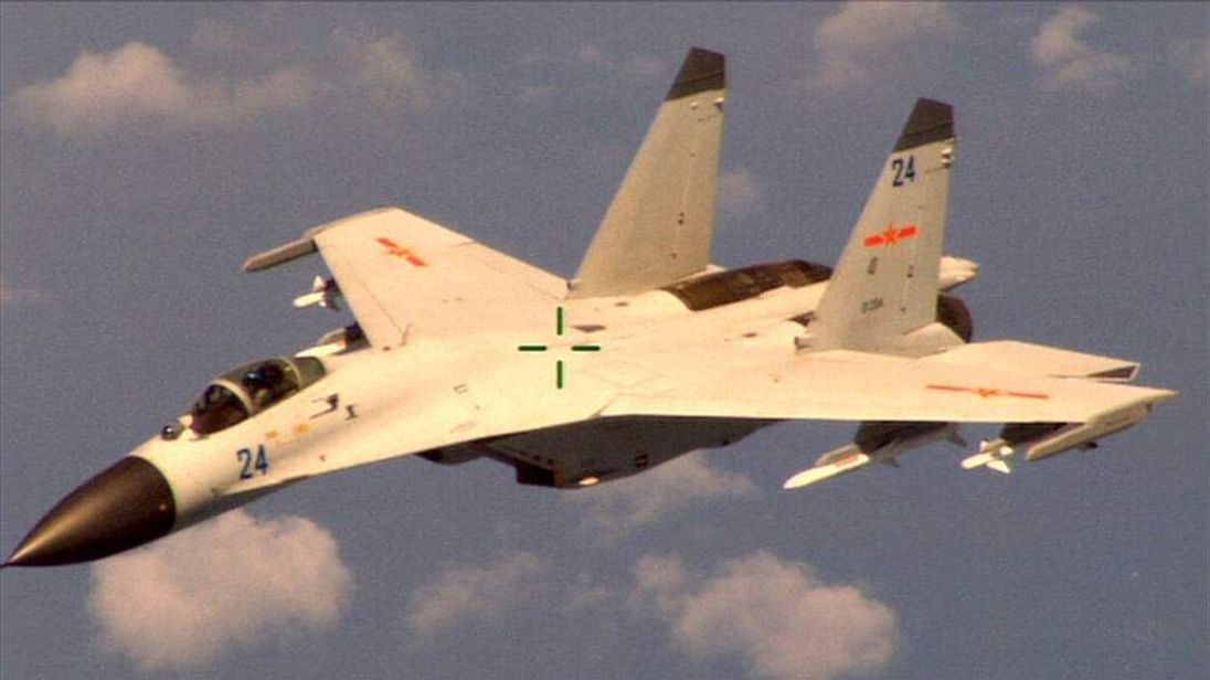 A Chinese jet that buzzed an American Navy plane