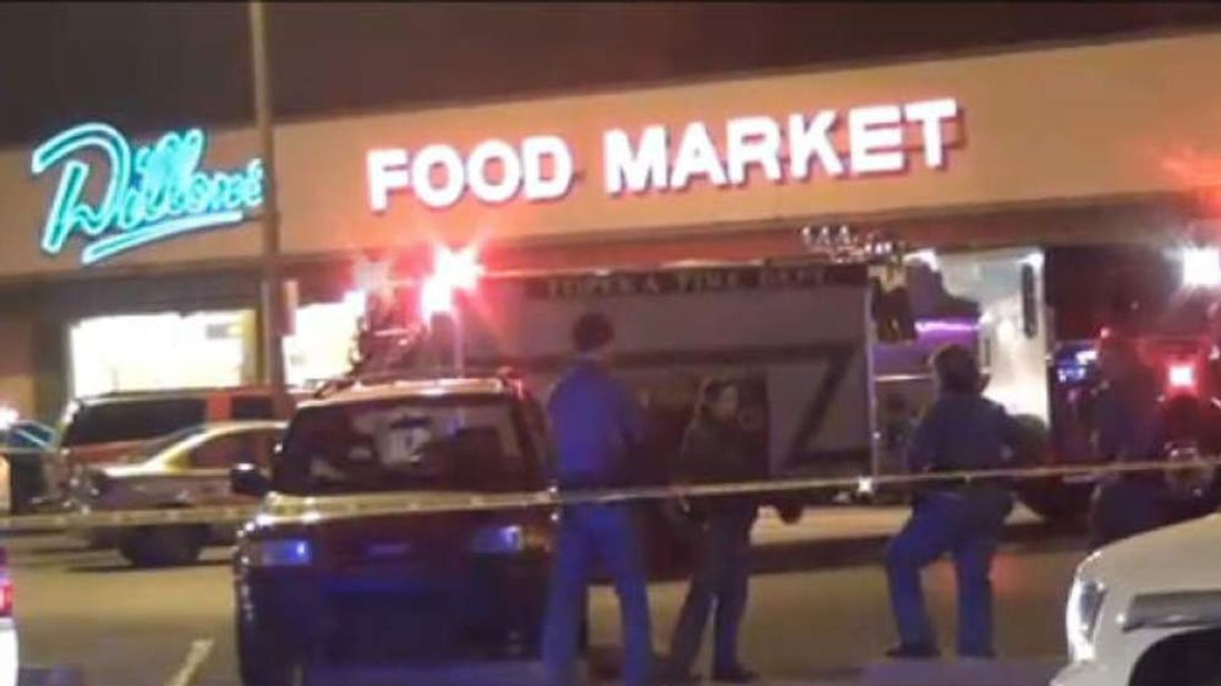 Topeka police shooting scene WIBW screen grab