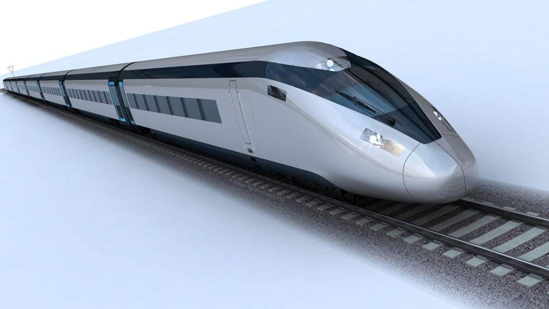 Undated handout photo of the HS2 potential train design