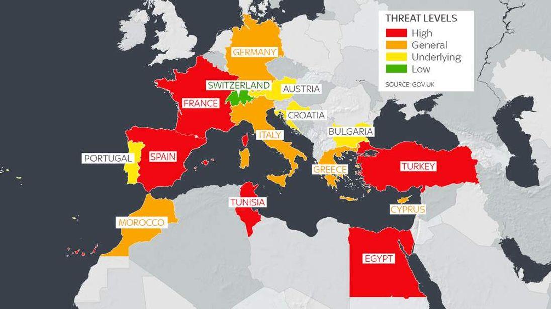 Terror Travel Map