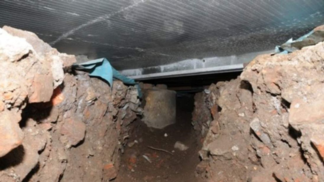 The tunnel beneath an ATM in Salford.