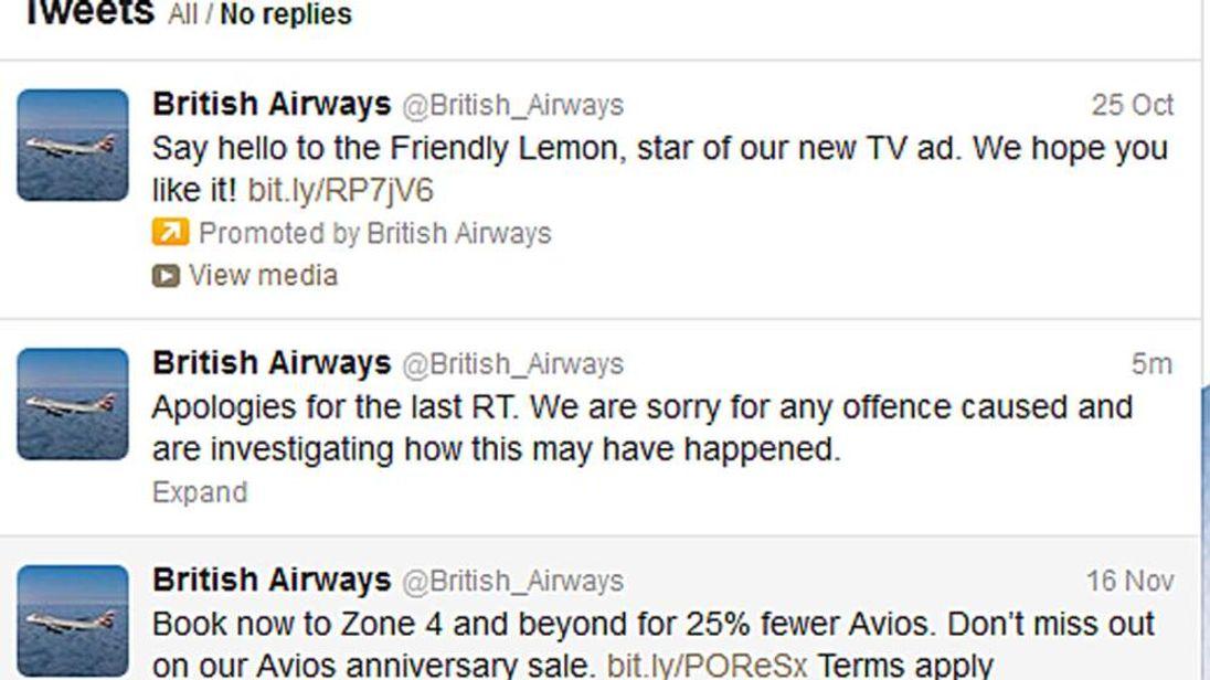 The apology tweet