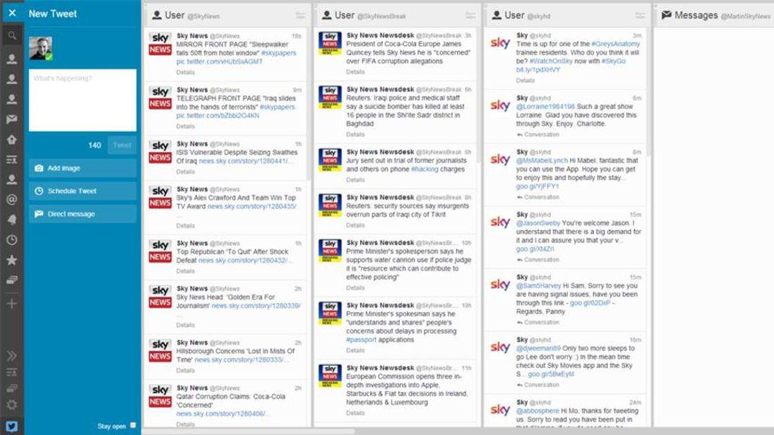 Twitter's TweetDeck dashboard