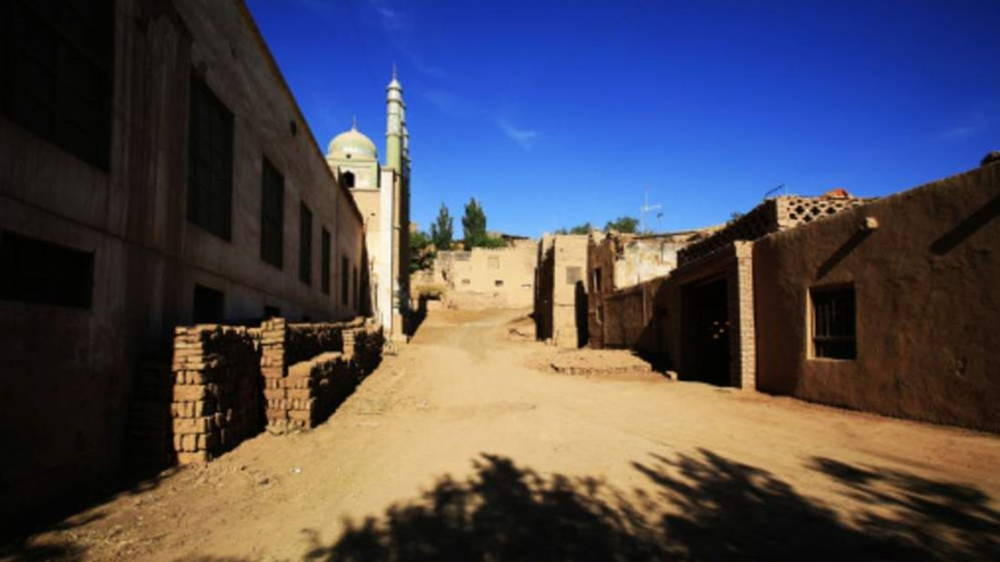 The riots happened in a village in the Turpan Oasis, Xinjiang, western China