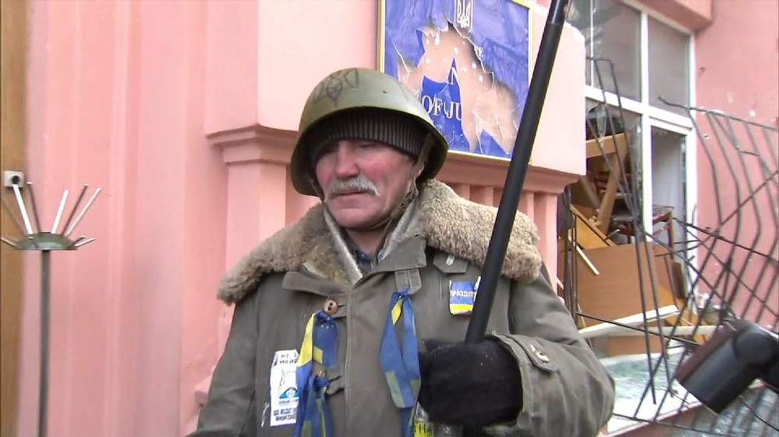 Ukraine justice ministry protester