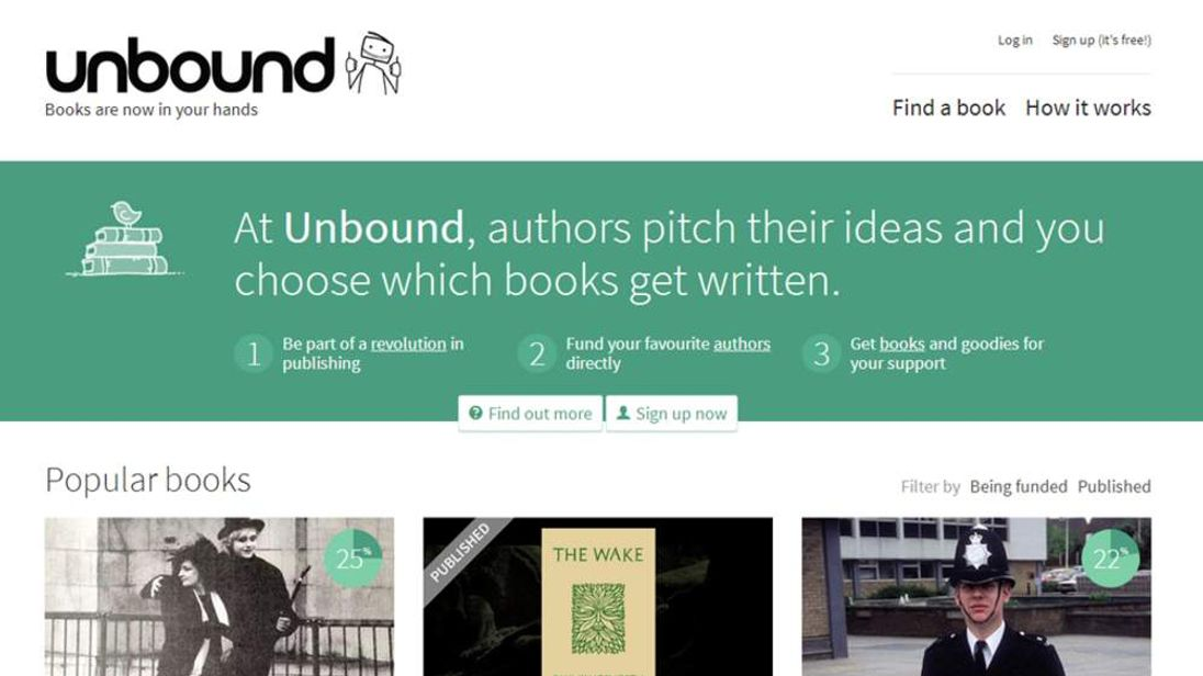 Unbound, the crowdfunded publishing platform