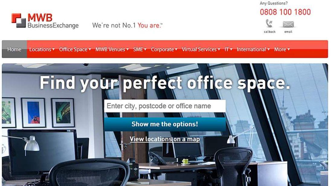 MWB Business Exchange website