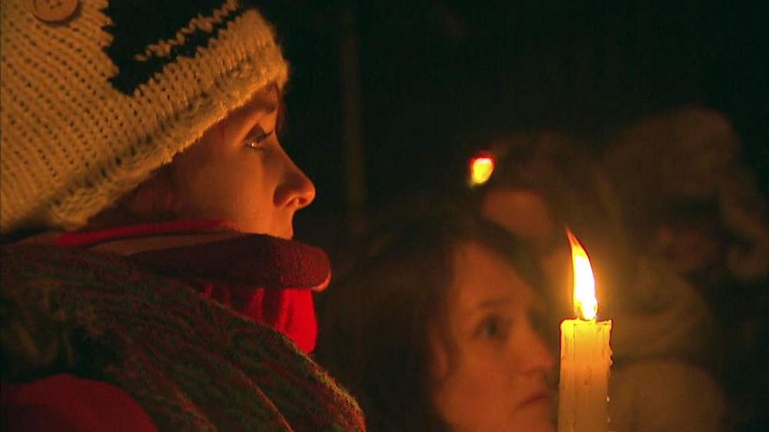 A candlelit vigil for the deceased Indian dentist in Ireland