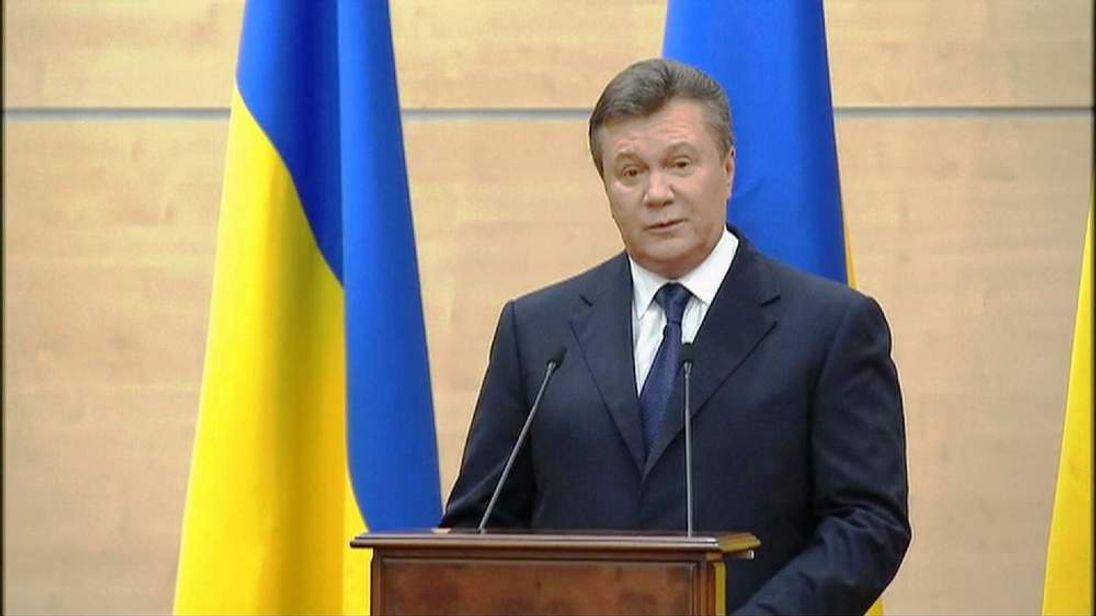 Former Ukraine President Viktor Yanukovych