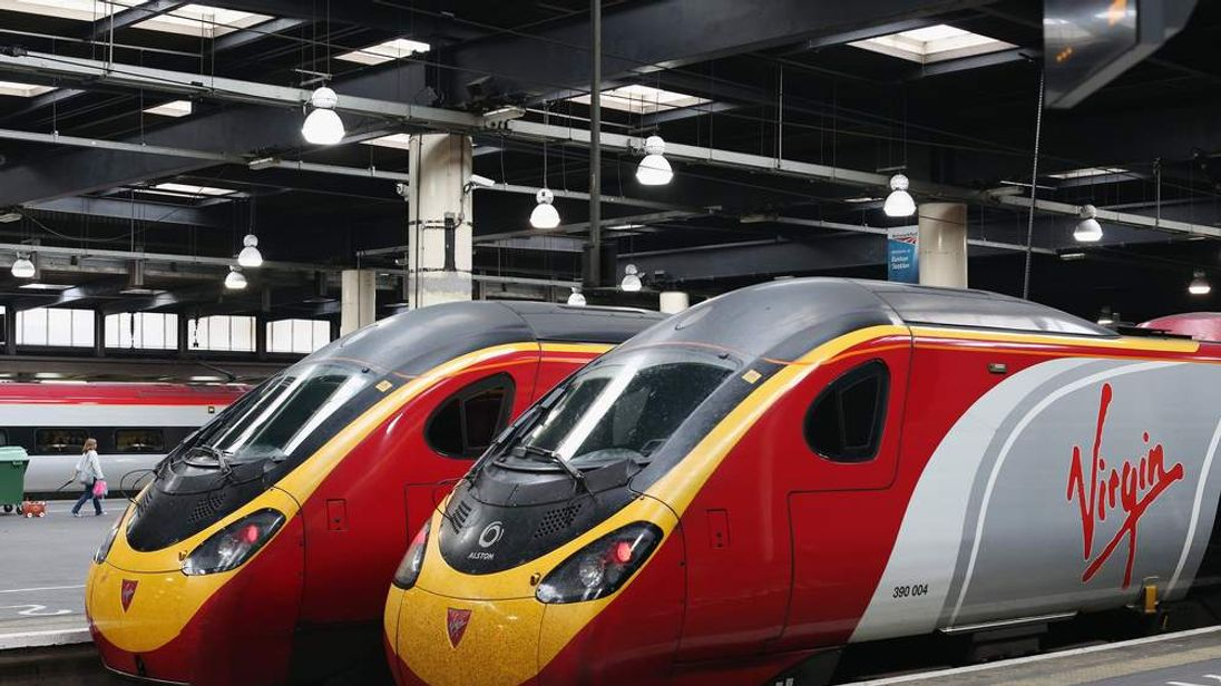 Virgin trains at Euston Station