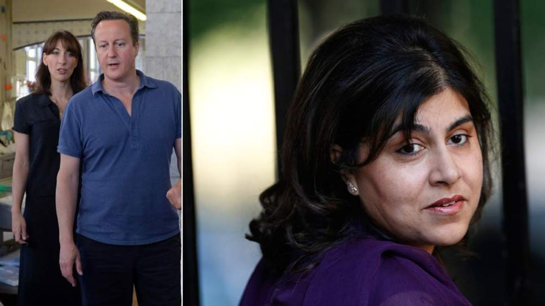 David Cameron and Sayeeda Warsi