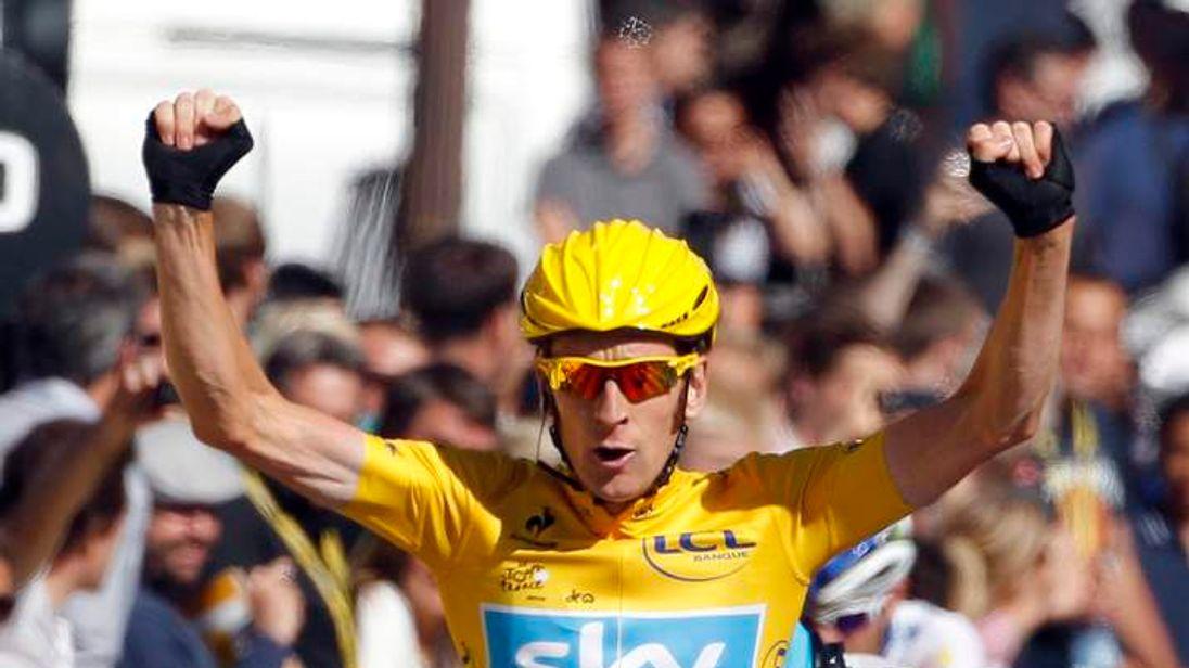 Bradley Wiggins wins the Tour de France