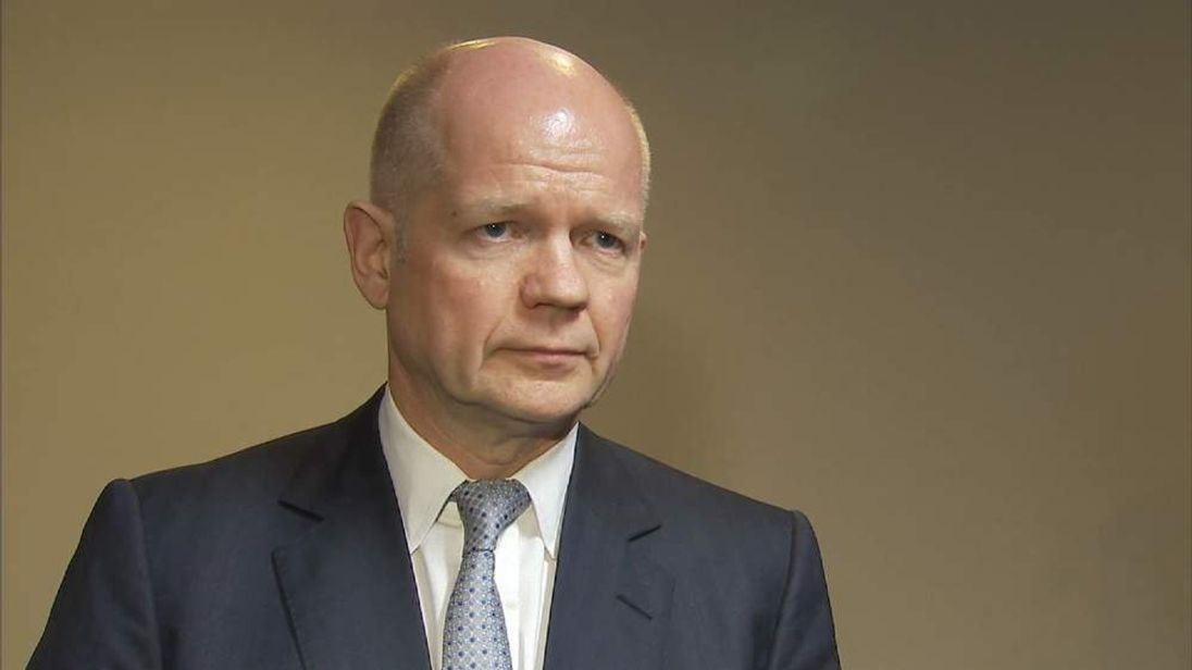 Foreign Secretary William Hague in Kiev