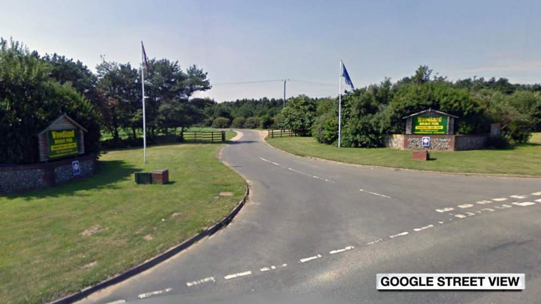 The entrance to Woodland Holiday Park in Trimingham, Norfolk. Pic: Google Street View