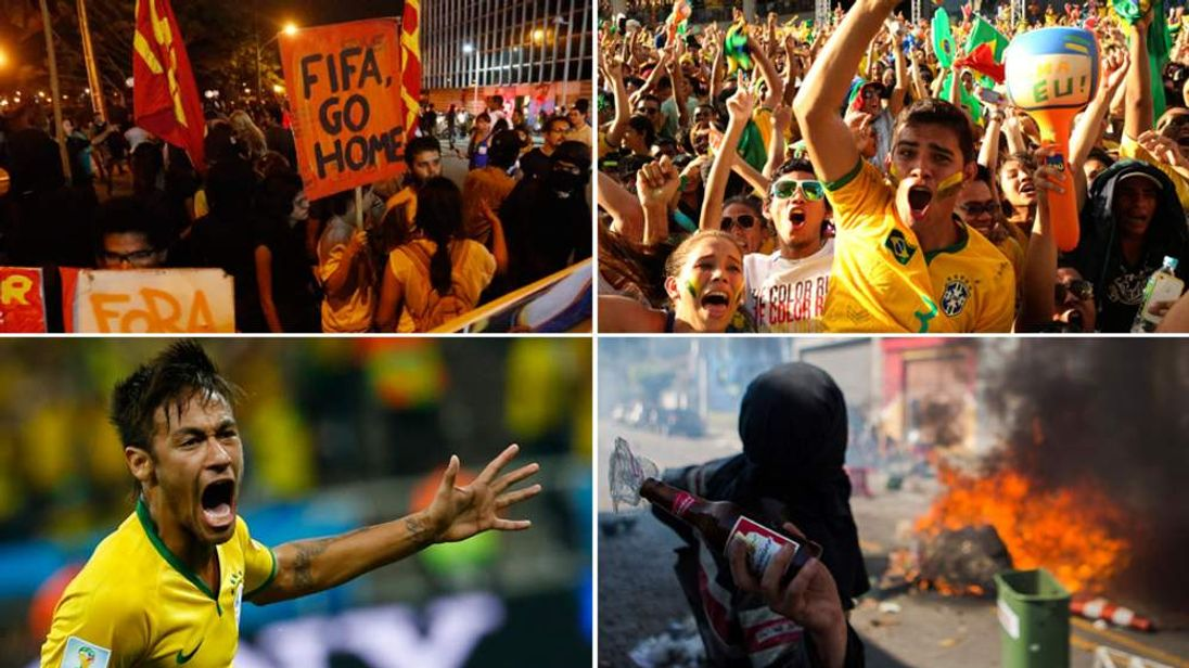 World Cup Brazil Celebrations And Protests