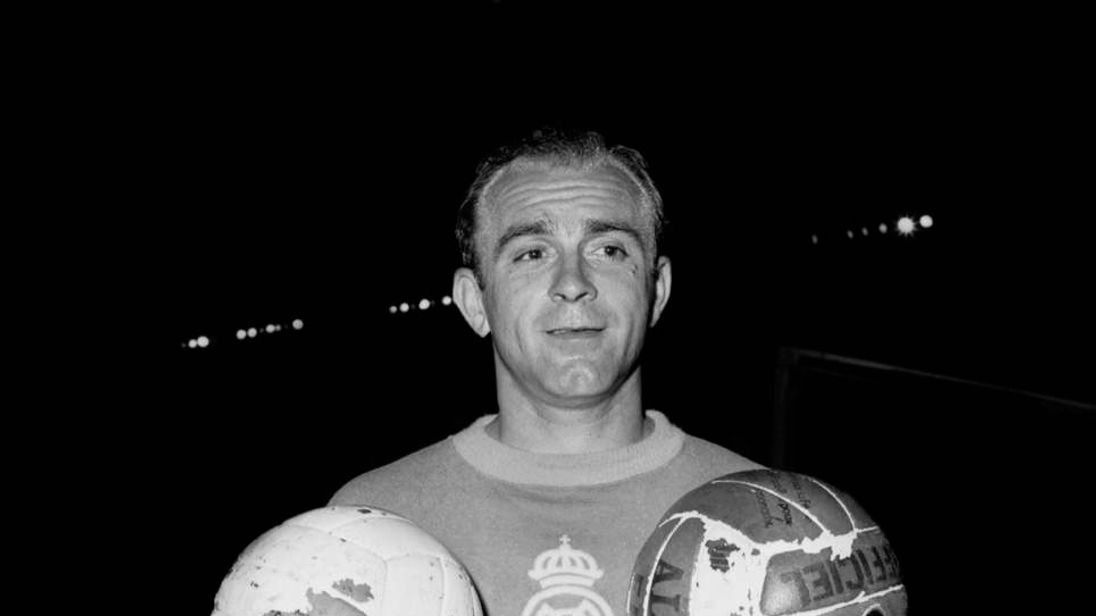 Portrait of Argentinian-born Spanish forward Alfre