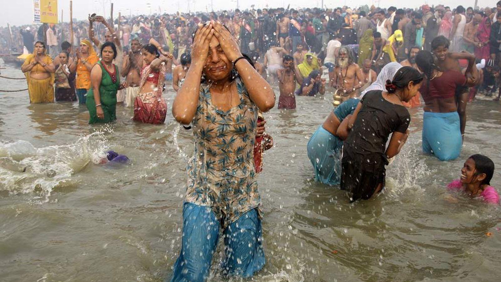 Indian Aunty Bathing Naked