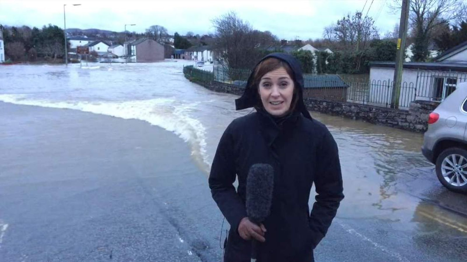 Sky S Katie Spencer Reports On The Floods In Cockermouth