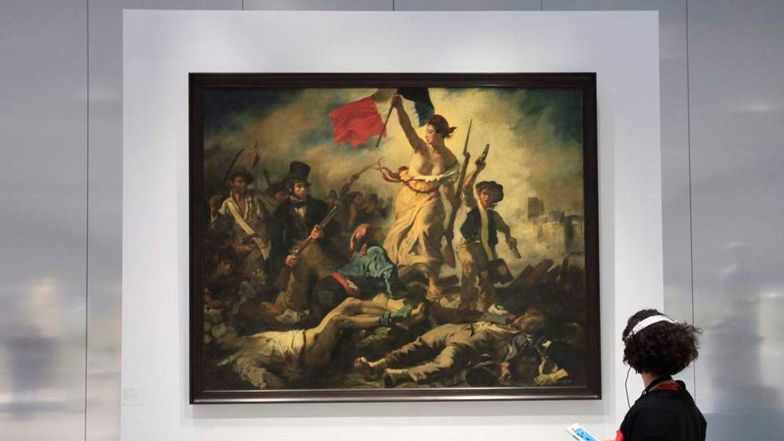 Woman Vandalises Louvre Delacroix Painting Ents Arts News