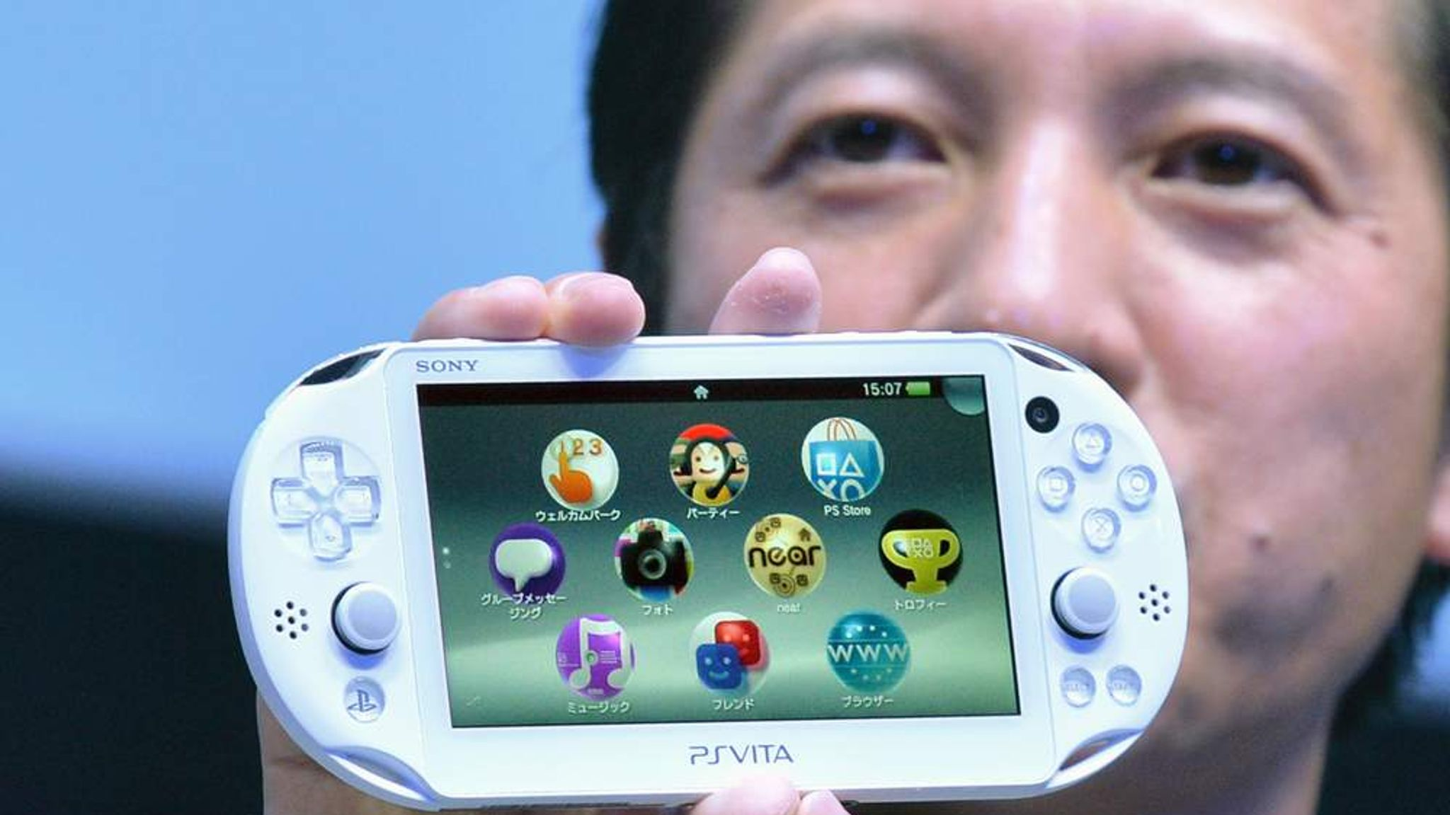 Ps Vita 00 Sony Launches Console And Tv Box Science Tech News Sky News