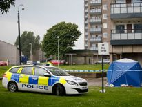 Police have placed a cordon around Donside Court.