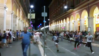 People run for safety moments after the attack began.