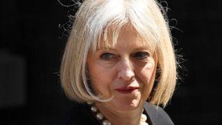 Home secretary Theresa May outside Downing Street