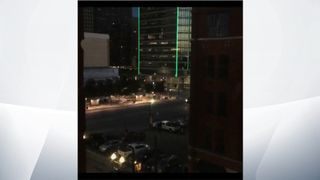 A Still Image From Footage Of The Dallas Shootings