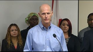 Florida Governor Rick Scott announces cases of Zika virus in state