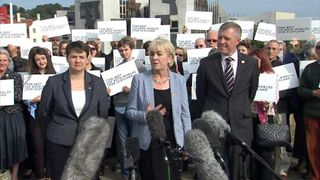 Pro-union party leaders in Scotland