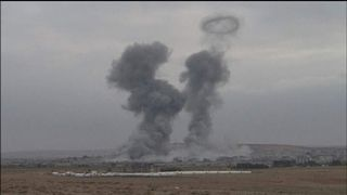 U.S. led airstrikes against Islamic State fighters in Kobani