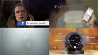 Swipe top image screen grab home security